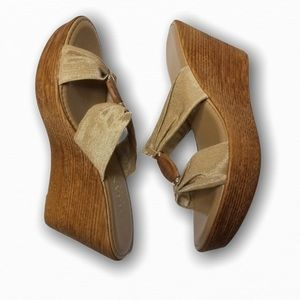 """Italian Shoemakers Leather """"Oxford"""" Wedges"""
